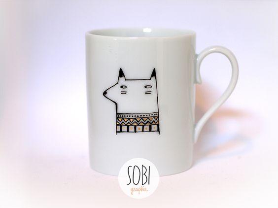 https://www.facebook.com/Sobigraphie/ #porcelain #fox #sobigraphie