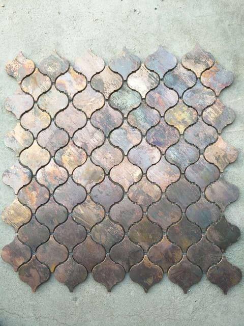 Telha De Bronze Do Mosaico Do Cobre Do Metal Da Lanterna Antiga Para A Decoracao Da Parede Da Cozinha Kitchen Wall Tiles Kitchen Wall Decor Trendy Kitchen Backsplash