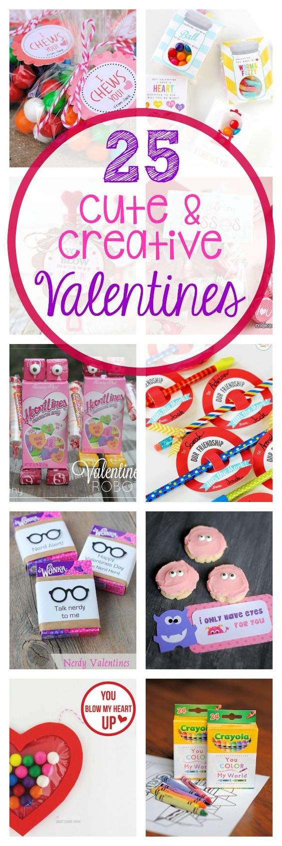 Here are 25 cute and creative Valentine Day Ideas for you to use this year. Easy to print and perfect for kids.