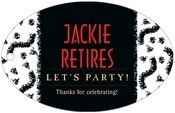 Party large wide oval hang tags - Black #evermine