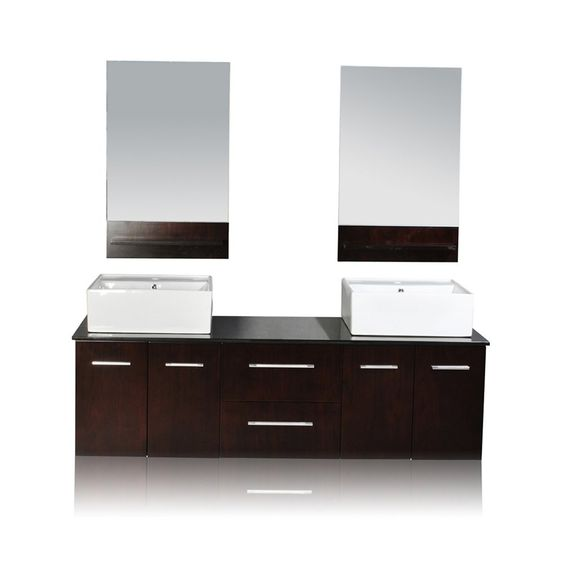 Ariel Bath DWD Belmont Décor Skyline Double Vessel Sink Vanity - Lowe's canada bathroom vanities for bathroom decor ideas