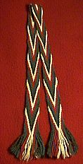 Finger Weaving a Sash