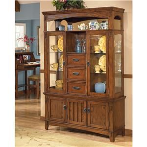 Ashley Furniture Cross Island Lighted Buffet And Hutch Cabinet Ahfa China Cabinet Dealer