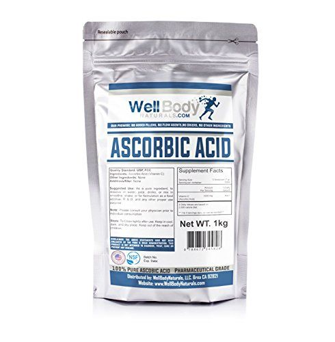 WellBodyNaturals Pure Ascorbic Acid (Vitamin C) Powder (1000 grams) >>> Click image to review more details.