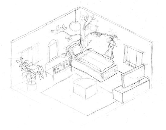3d room drawings - Google Search | Technical Drawing | Pinterest | Room