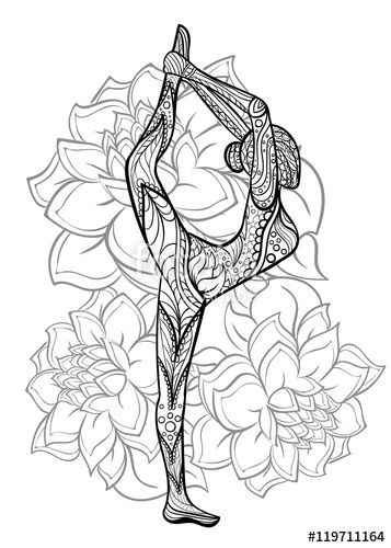 Vector: Hand drawn ink pattern. Coloring book for adult