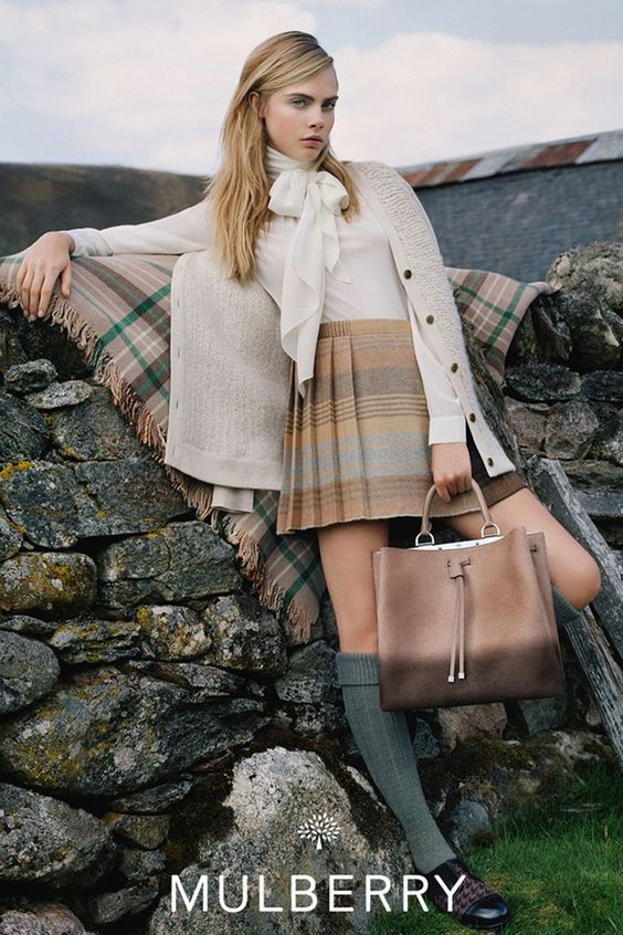 Fall 2014 Fashion Ads - Cara Delevingne for Mulberry, shot by Tim Walker.