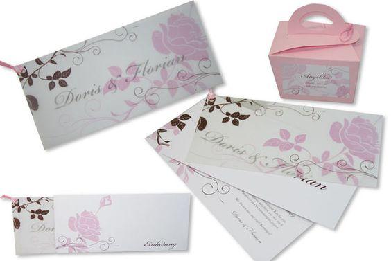Hochzeitseinladungskarten - Rosenrot