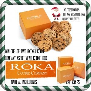 #Win a one of two RŌKA #GourmetCookie assortment box #HolidayTreats #FreshlyBaked #Cookies #NaturalIngredients #ad