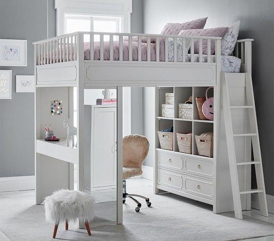 Ava Regency Kids Loft Bed Pottery Barn Kids Kidsbedroomideas In