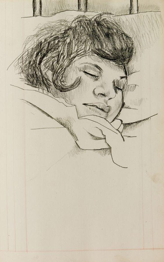 Lucian Freud: Girl sleeping, date unknown /  Estate of Lucian Freud/National Portrait Gallery