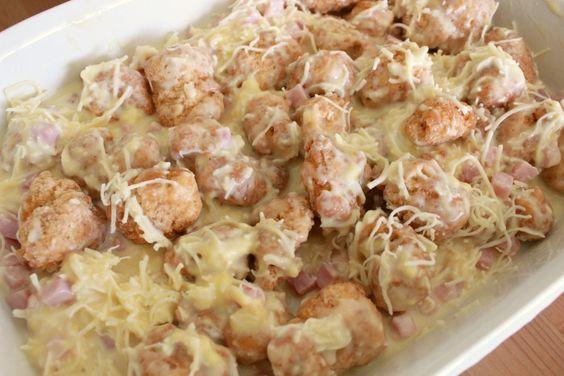 Cordon Bleu Chicken Nugget Casserole Recipe