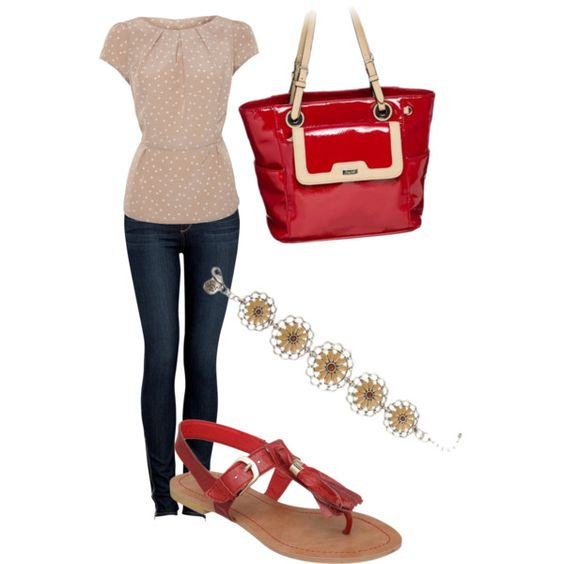 """""""The perfect outfit, bag, and jewelry for a Saturday morning at the farmers market"""" by graceadelestyle on Polyvore"""