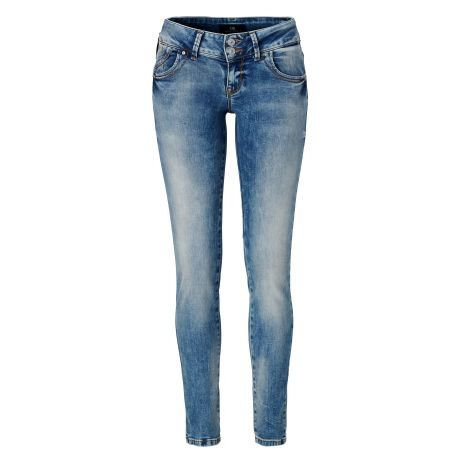 Röhrenjeans, Slim Fit, Used-Look Vorderansicht