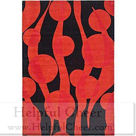 Safavieh Handmade Soho Flora Black Red New Zealand Wool Rug 5 x27 x 8 x27 - at O
