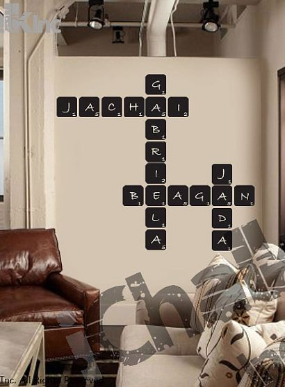 crossword wall decal