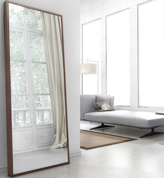 Flooring Stores Nashua Nh: Taft Full-Length Mirror WALNUT