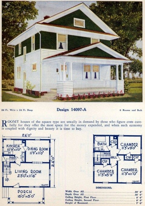 62 Beautiful Vintage Home Designs Floor Plans From The 1920s Home Design Floor Plans Floor Plan Design Vintage House