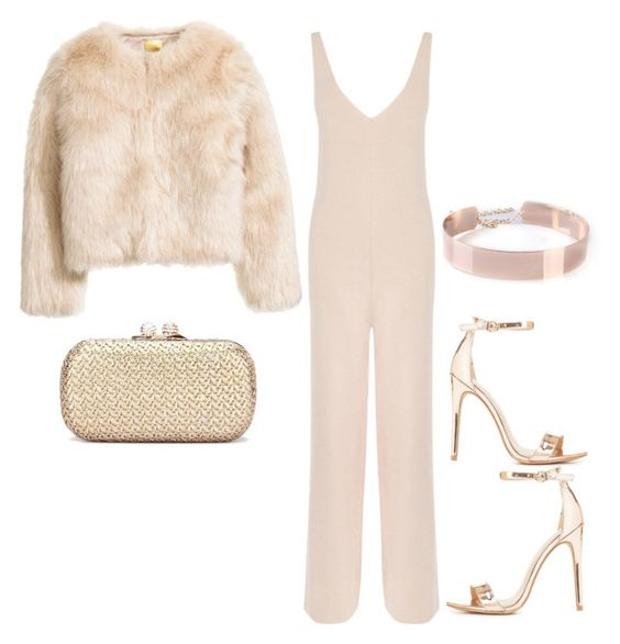 """""""Rose Gold"""" by hautecoutureblvd on Polyvore featuring Warehouse and Charlotte Russe"""