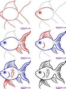 Posted In How To Draw Easy Fish How To Draw Salt Water