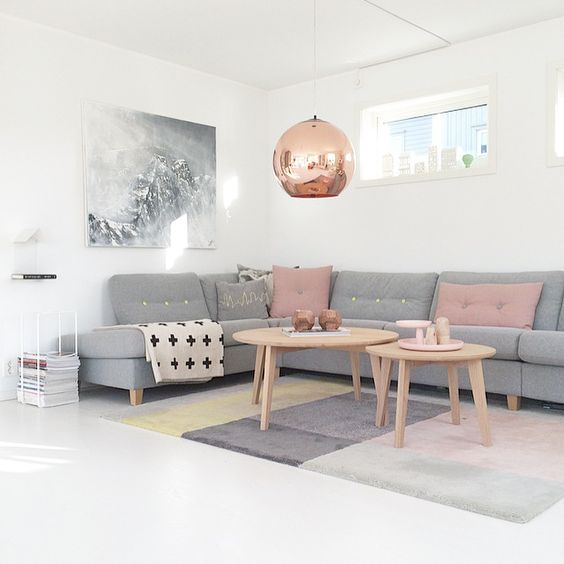 wohnzimmer ideen graues sofa | möbelideen