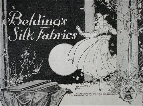 Belding's Silk Fabrics ad, 1916