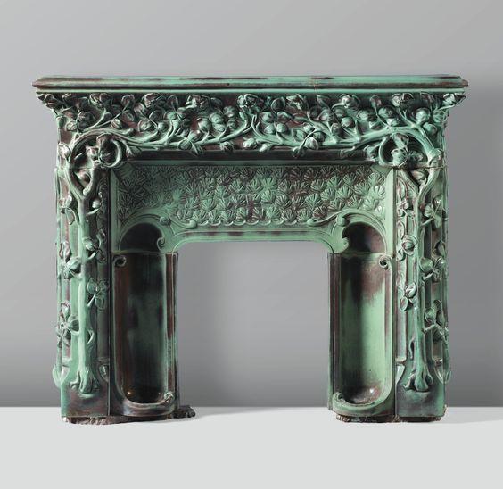 Art Nouveau Fireplaces By Emile Muller Charles Greber And Hugnet Freres Image Source 1 2 3 4 En 2020 Art Nouveau Art Deco Et Art
