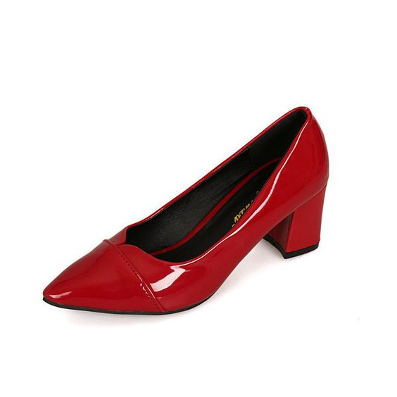 Womens Sleek Close Toe Work Heels