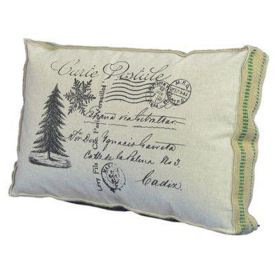 Tapestries Ltd Christmas Tree Postcard Lumbar Pillow Wayfair In 2020 Dorm Decorative Pillows Pillows Decorative Diy Pillows