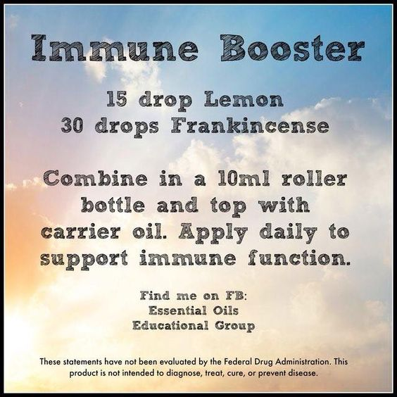 Try this immune support blend- Apply on the feet, down the spine, or along the lymph nodes (throat area).