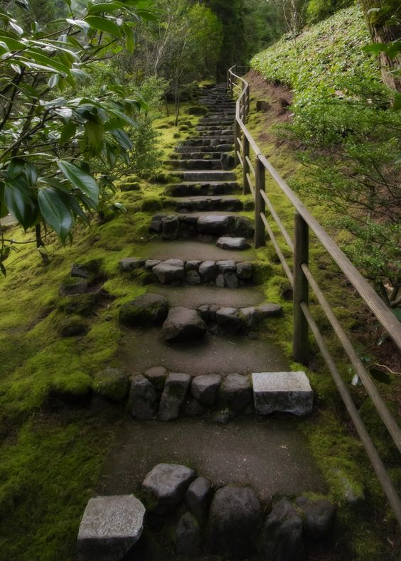Stairs - Japanese Gardens, Portland, Oregon