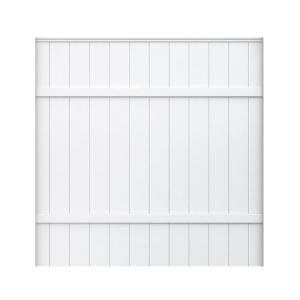 Veranda 6 Ft H X 6 Ft W White Vinyl Fence Panel Vinyls
