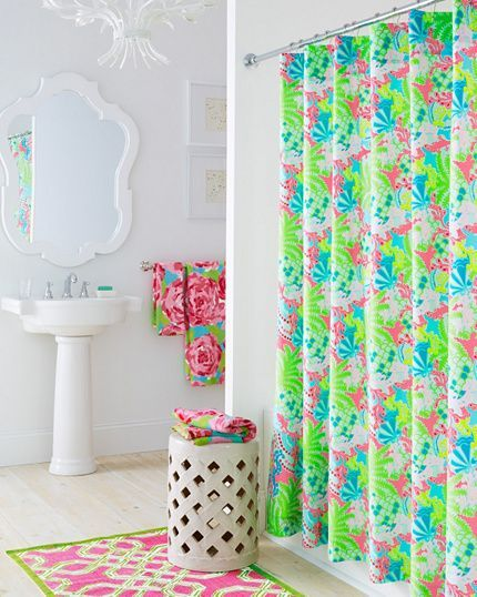 lilly pulitzer bathroom interior and bathroom on pinterest. Black Bedroom Furniture Sets. Home Design Ideas