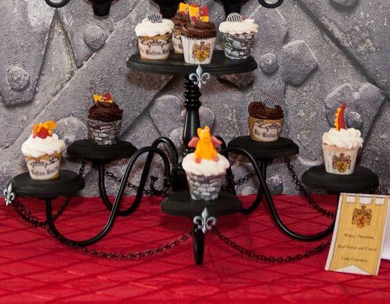 Knight and Dragon themed birthday party via Kara's Party Ideas KarasPartyIdeas.com Printables, cake, decor, favors, recipes, etc! #dragonpar...
