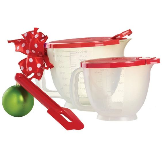 Tupperware Classic Mix-N-Stor® Collection:          Includes Classic Mix-N-Stor® Small Pitcher, Classic Mix-N-Stor® Large Pitcher and spatula.  Dishwasher safe  Limited Lifetime Warranty      Item:10129857000