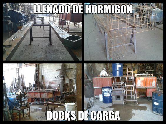 LLenado de hormigón. Docks de carga