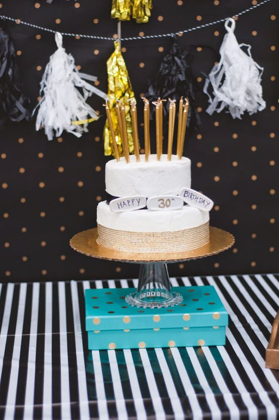 Black and Gold 30th Birthday | HELLO my name is Sara. #gold #black #30thbirthday #teal