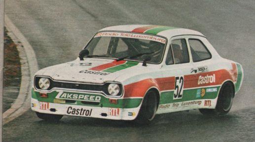 Dieter Glemser Ford Escort Zakspeed 1974