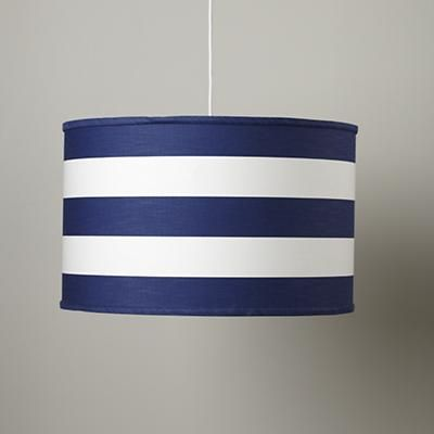 This striped pendant will look fantastic with the plaid quilt. Stripes and plaids, always a classic combo.