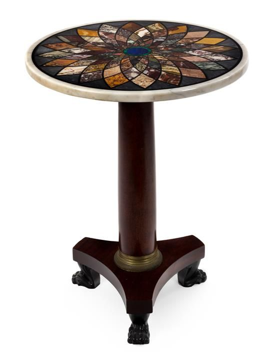 A Regency Rosewood and Specimen Marble Center Table | Property from the Estate of John Kluge for the Benefit of Columbia University | June 14, 2016 in West Palm Beach