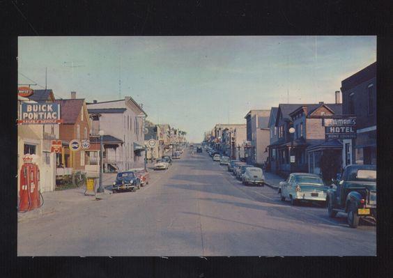 Ely Minnesota <3 Downtown Street Scene Postcard 1950's