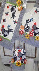 203 Muitas Galinhas | Trilho, avental e capa para galão de á… | patchwork | Flickr