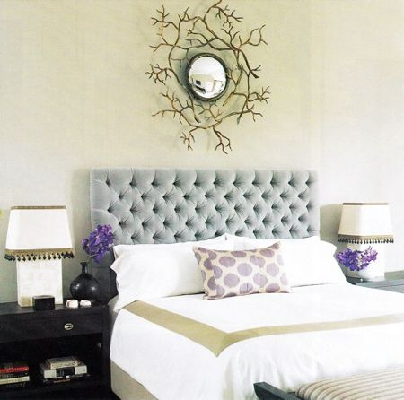 light blue tufted headboard. need one of these. (cant wait to re-do my bedroom someday.)