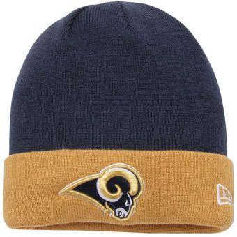 New Era Los Angeles Rams Navy/Gold 2-Tone Cuffed Knit Hat