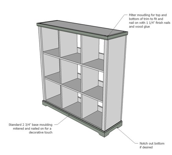 Ana White Build A Cubby Bookshelf Large Free And