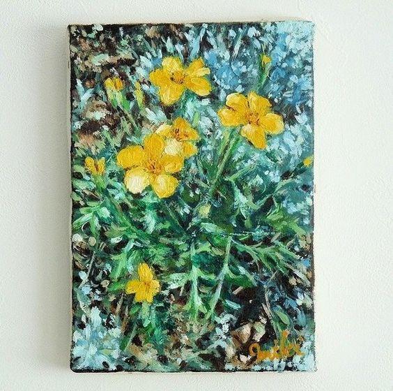 油絵 SM号 158ミリ×227ミリ額なしマリーゴールド「ルナ」という品種を描いてみました。黄色の可憐なお花です。お部屋が春らしく、明るくなります...|ハンドメイド、手作り、手仕事品の通販・販売・購入ならCreema。