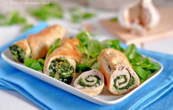 Involtini di pollo con spinaci