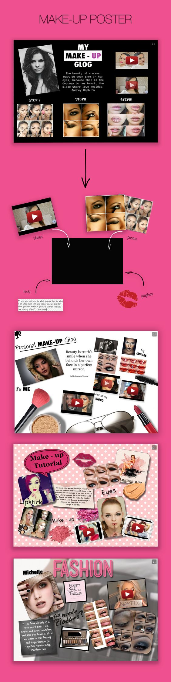 Make-up Poster #glogster #glogpedia #makeup