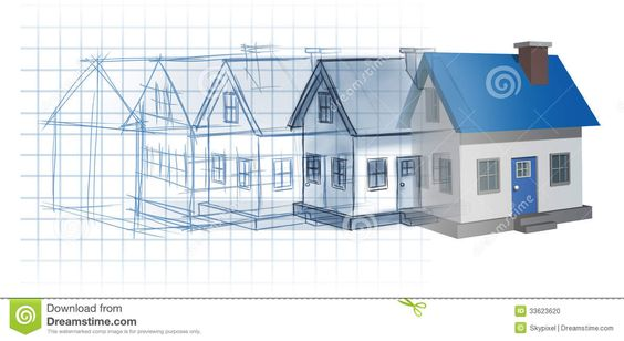 Blueprintconstructionfinished house blueprint drawing blueprintconstructionfinished house blueprint drawing sketch evolving to a finished built home as a for the home pinterest construction malvernweather