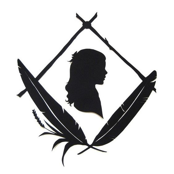 jenny lee fowler | rustic feather silhouette portrait by jenny lee fowler, via Flickr